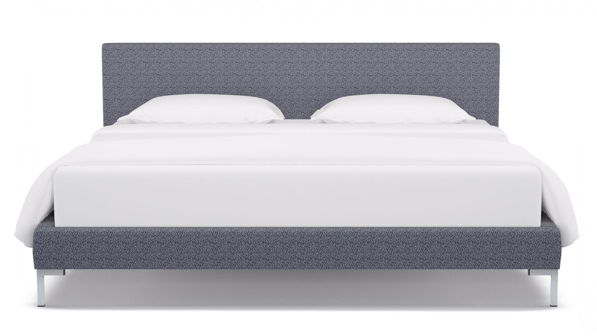 Navy Scattered Dot Modern Platform Bed King The Inside