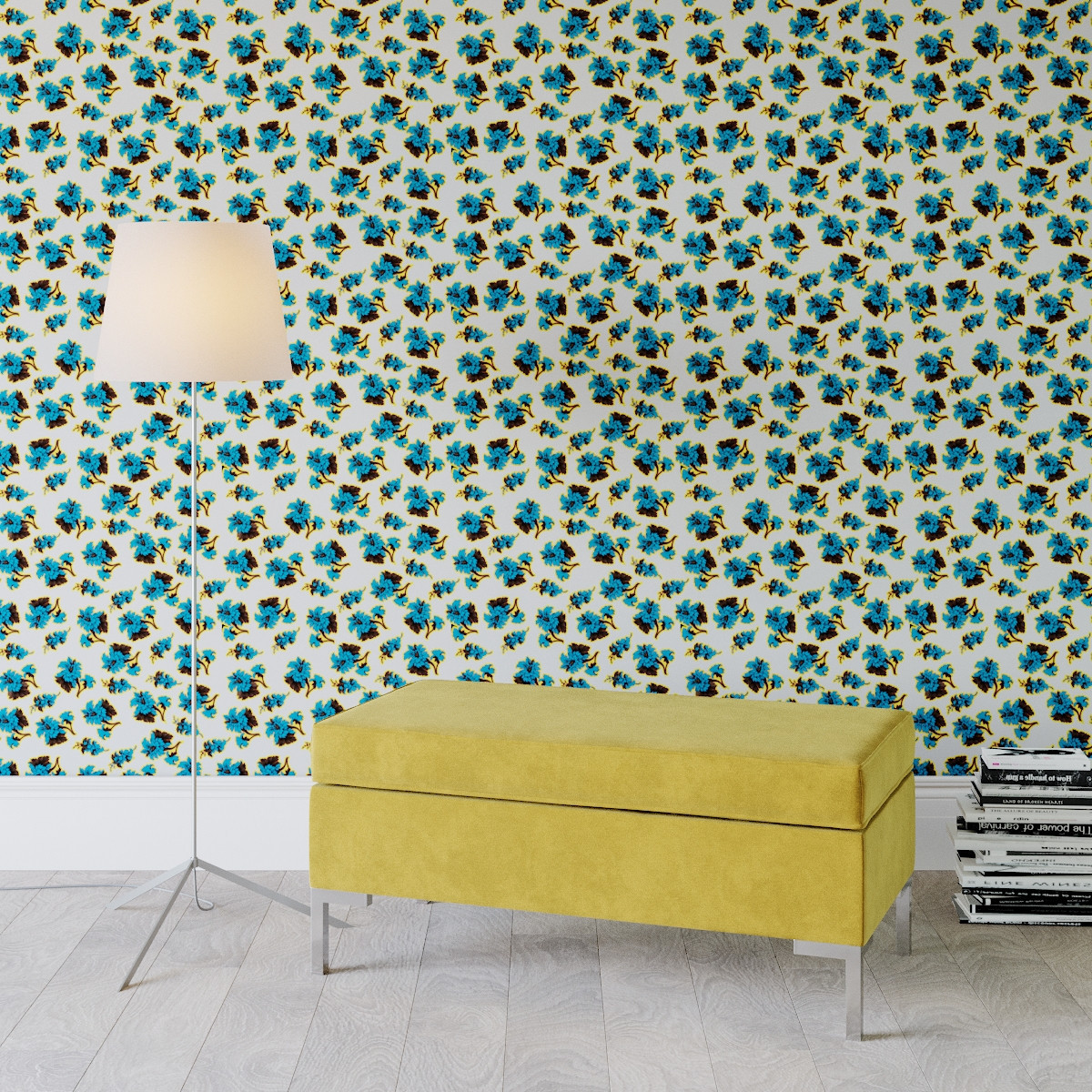 Acid Floral Peel And Stick Wallpaper Roll The Inside