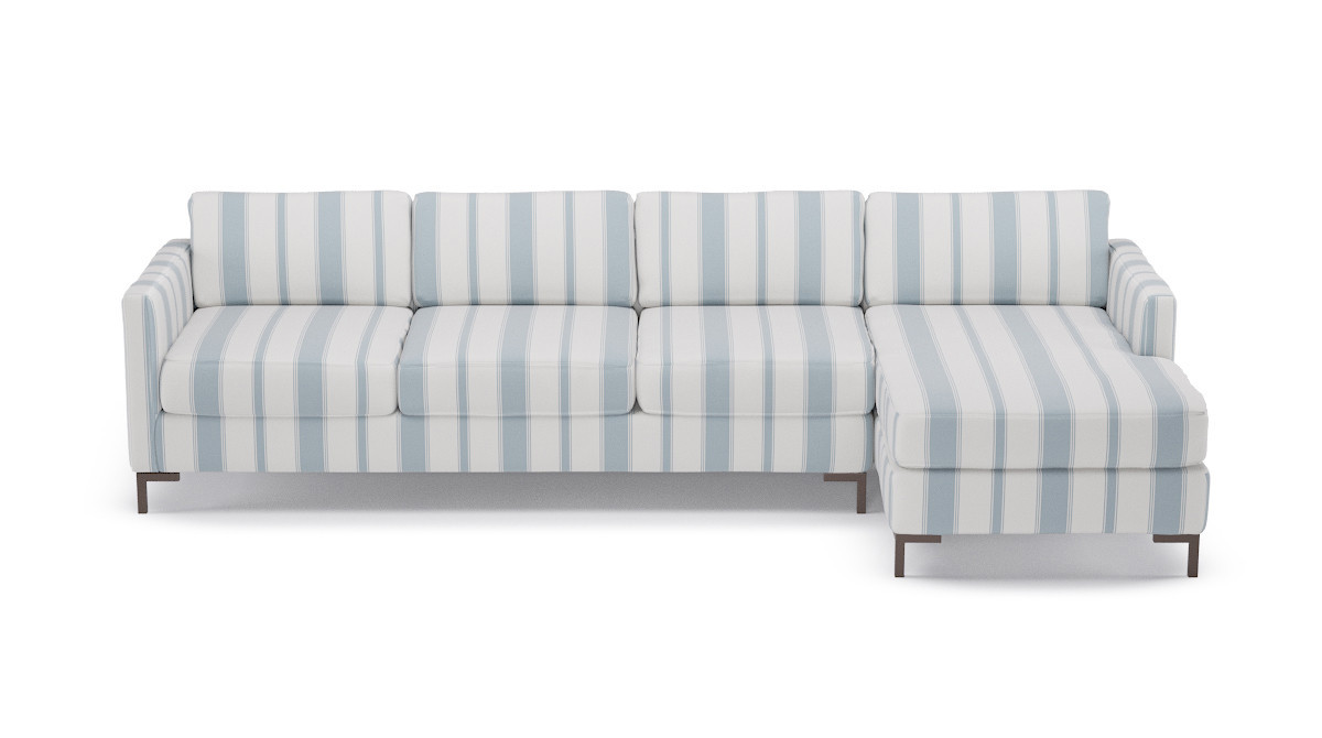 Modern Sectional In French Blue